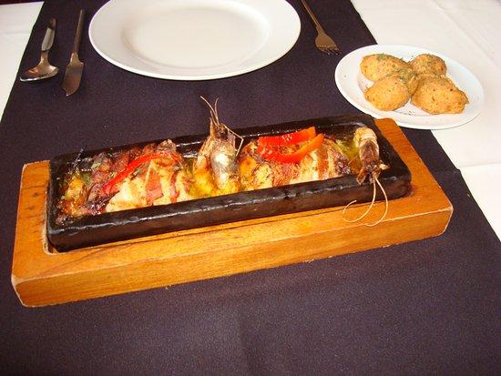 Alabote : Telha de peixe com bacon
