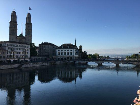 Storchen Zurich: Morning Picture - 2nd Floor Patio