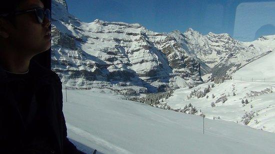 Jungfraujoch: from the train