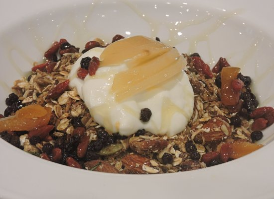Lennox Head, Australia: House Roasted Granola with Yogurt, Local Honey and seasonal fruit