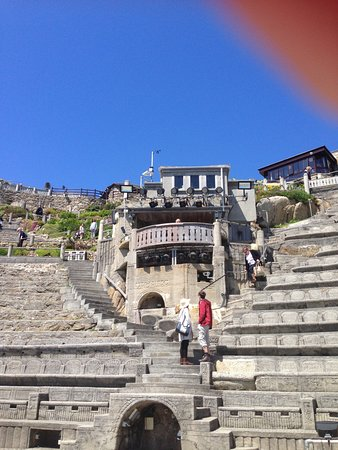 Minack Theatre: Looking up from the stage