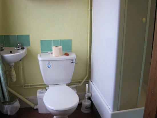 Cranborne, UK: The ensuite was extremely small. this is a photo of most of it - very little not in photo