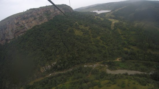"Port Shepstone, Afrique du Sud : view from the zip line called ""Hells Gate"" EEK!"