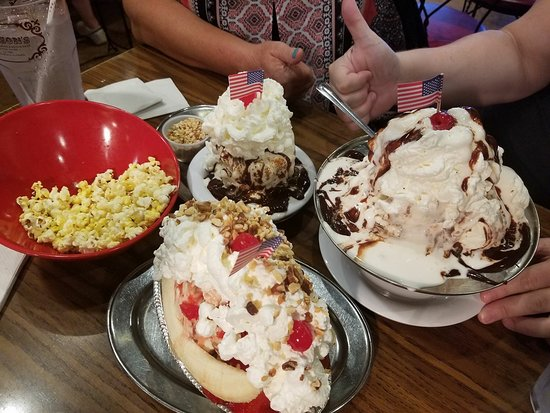 An almost completed kitchen sink sundae picture of jaxsons ice jaxsons ice cream parlor photo workwithnaturefo