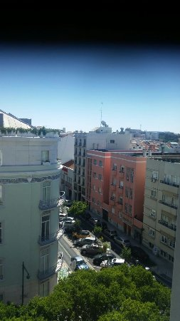 Olissippo Saldanha: View from room 603, top shading is block out screen