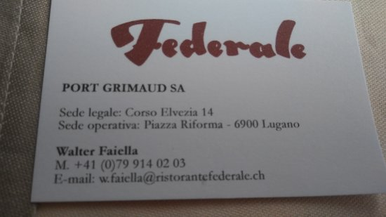 Federale Resturant Pizzeria Besso: 20170513_132507_large.jpg