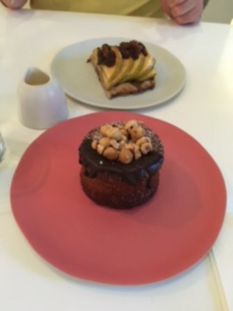 Ottolenghi - Islington: Dessert - Hazelnut and Chocolate cake and Apple and Sultana cake