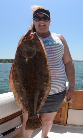 Doormat Fluke caught off Southold, NY