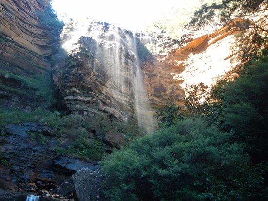 Blue Mountains National Park, Australien: Wentworth Falls from the National Pass walking track