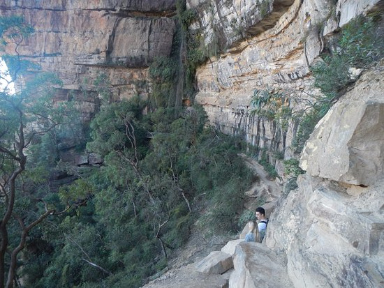 Blue Mountains National Park, Australien: Part of the (sometimes) narrow pathway.