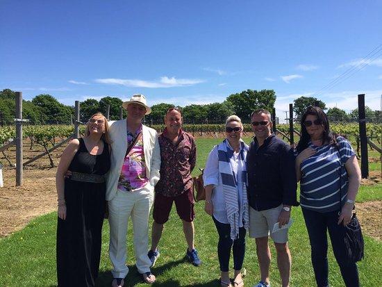 Biddenden, UK: enjoying the Vineyard tour