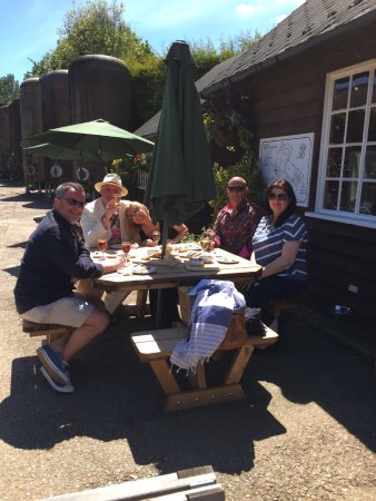 Biddenden, UK: cheese and meat platter while wine tasting