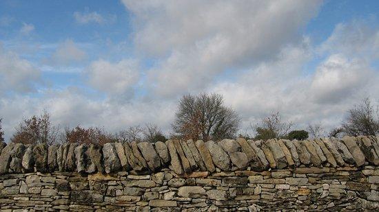 Villefranche-de-Rouergue, Fransa: les murets de pierre sur le causse