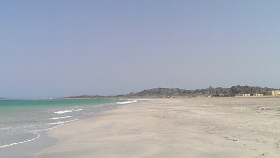 Masirah Island, Oman: View from north of hotel on beach