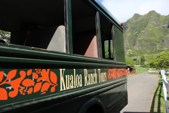 Kaneohe, HI: The bus that will take you to the actual zip lining area