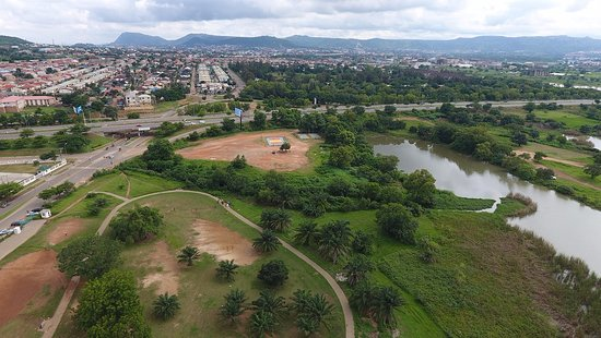 Jabi Lake park, Abuja. Looking towards Kado Estate