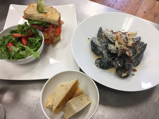 Port Hope, Canada: Triple Cream Brie Grilled Cheese + Mussels San Berdoo
