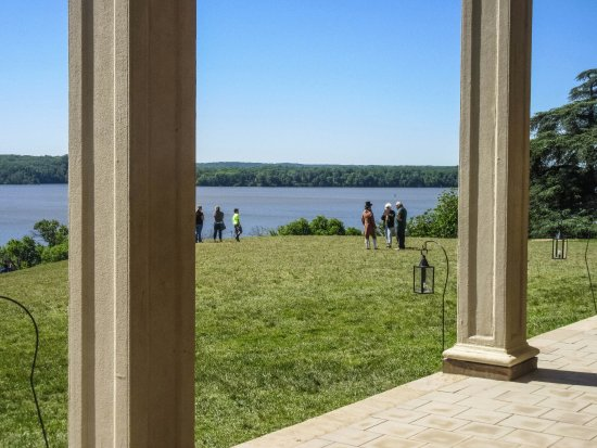Mount Vernon, VA: View of Potomac from porch of mansion.