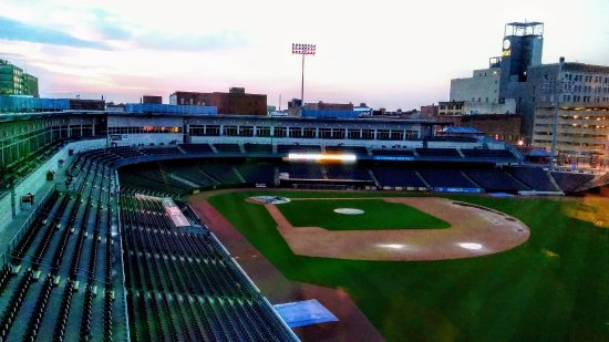 Toledo, OH: view of the field from the deck.