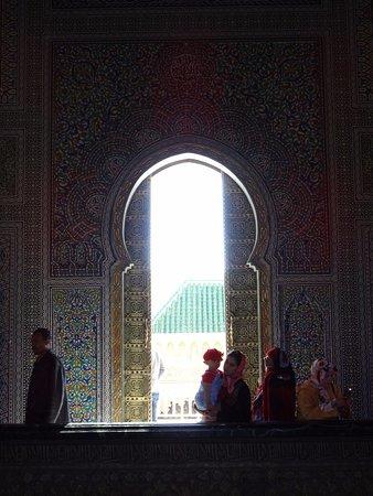Mausoleum Mohammed V.: Une des portes du Mosolée