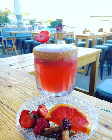 Ciudad de Skiathos, Grecia: Some of our unique cocktail recipes..... Names and combos inspired by our bartenders...