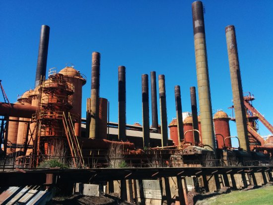 Sloss Furnaces National Historic Landmark: Blue Skies Really Add Color