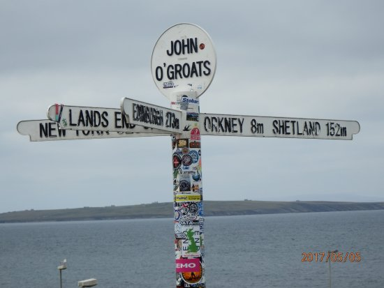 John O'Groats, UK: La raison d'être là.
