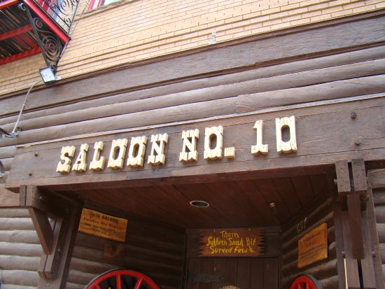 Saloon 10 American Whiskey Bar Signage Of