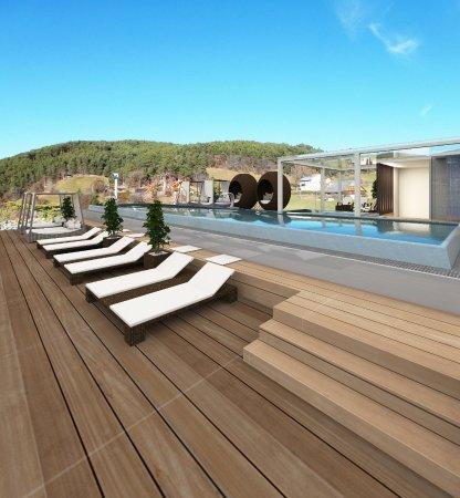 ABINEA Dolomiti Romantic SPA Hotel: Nuova panoramic sky pool sulla terrazza all'ultimo piano da giugno 2017