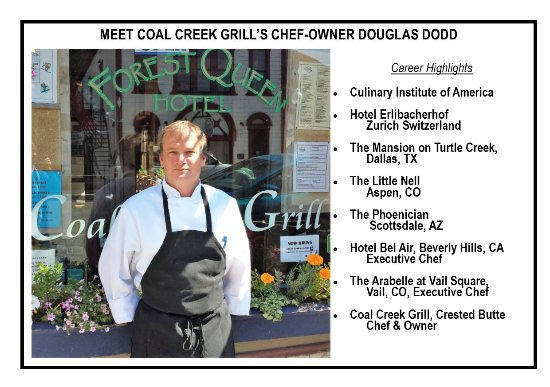 Crested Butte, CO: Chef-Owner, Douglas Dodd