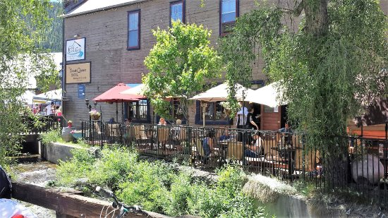 Crested Butte, Κολοράντο: Creekside Dining on the Patio
