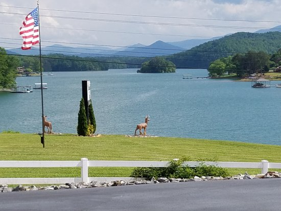 Hayesville, Kuzey Carolina: View of the from our room.