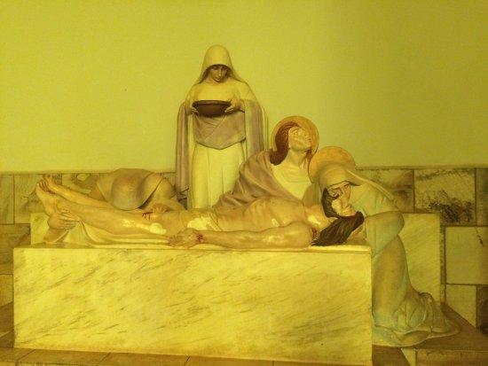 Claraval, MG: a paixão de cristo, estátua tão realista que as vezes pensamos que vão abrir os olhos