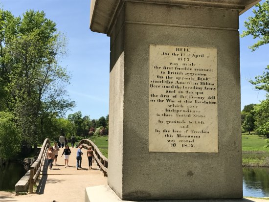 Concord, MA: Close up of the obelisk monument