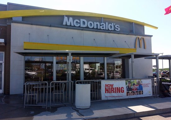 Kenosha, WI: front of & outdoor patio at McDonald's