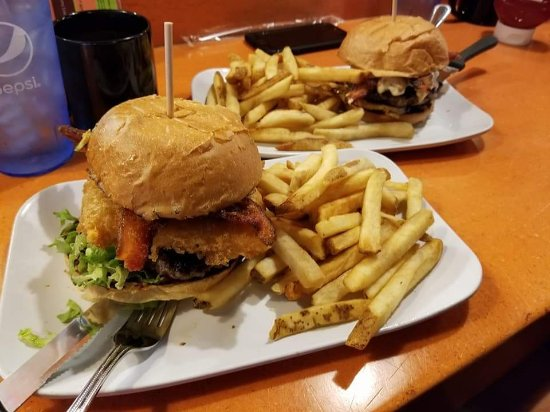 Castle Rock, CO: The Sin City burger (near) and the Love Stinks burger. Super tasty!