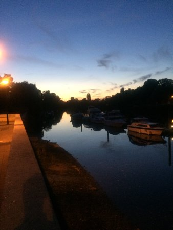 Teddington, UK: View from the front terrace