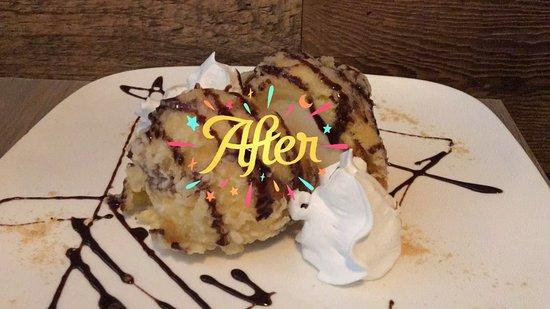 Branford, CT: Bola de helado de vainilla frita... Espectacular!