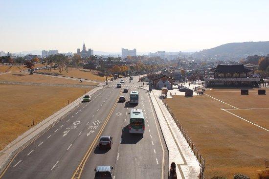 Suwon, Corea del Sur: Прекрасный вид с Крепости