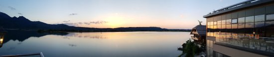 Kochel am See, Niemcy: Abendstunden über den Kochelsee