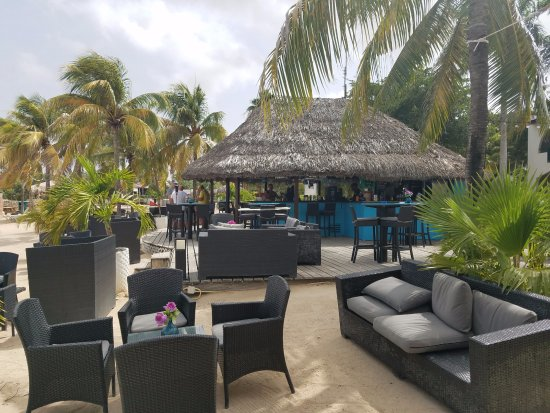 Cozy seating at Plaza Resort Bonaire