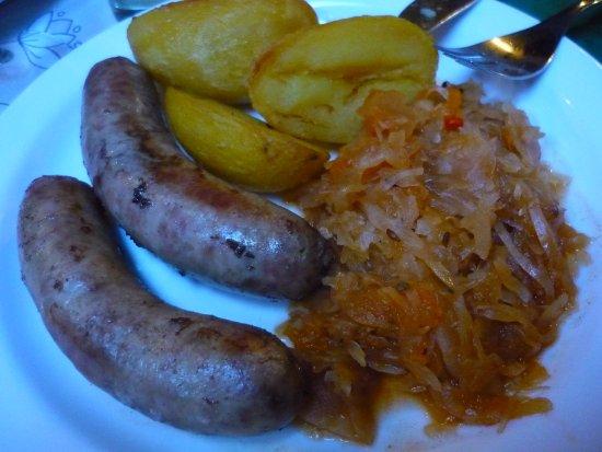 Marceliukes kletis : des saucisses sans saveur et.... des pommes de terre