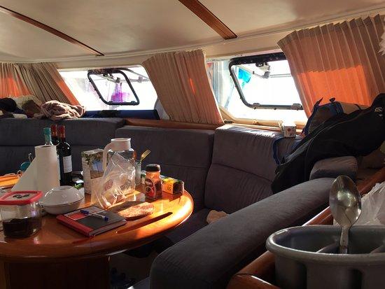 جزيرة ماهي, سيشيل: bateau bien rangé