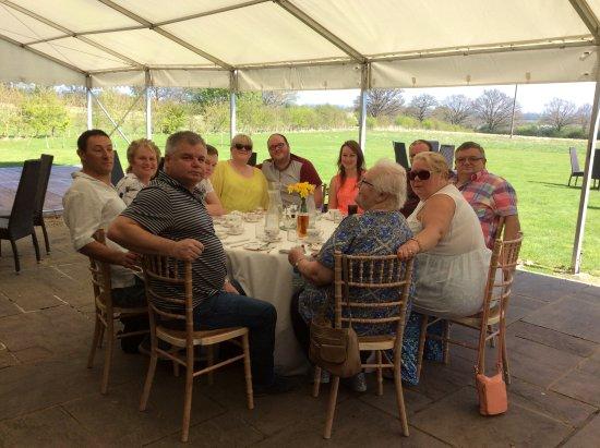 Egerton, UK: Outside afternoon tea