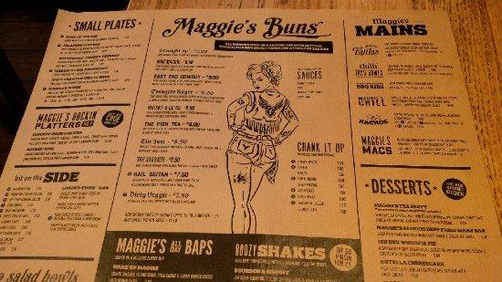 Maggie Mays: Menu