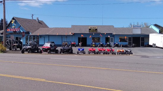 Winchester Bay, OR: Stop buy and see us today for a  full line of kids quads anyone under 10 rides free