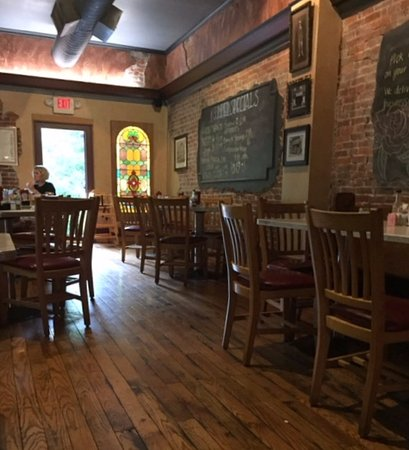 Uniontown, PA: Find the daily specials on the blackboards. There is a rear patio also.