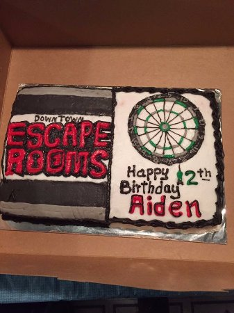 Sherman, TX: Aiden celebrated a part of his birthday at Downtown Escape Rooms.
