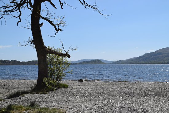 Loch Lomond and The Trossachs National Park, UK: Sallochy Campsite - this is a very basic campsite but who cares with views like this.