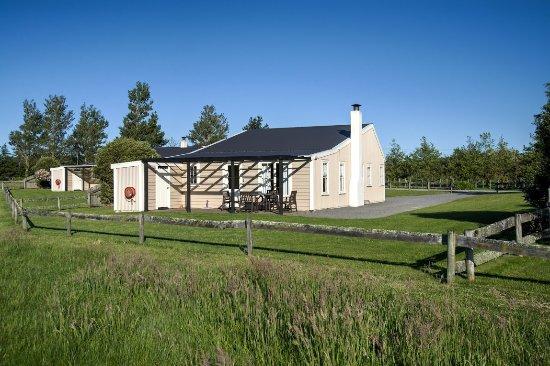 Martinborough, Νέα Ζηλανδία: Rear of two bedroom cottage